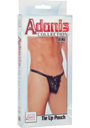 Adonis Tie Up Pouch Male Thong Black Large/xtra Large