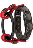 Kink Leather Master Ring Cock And Ball Accessory Red And...