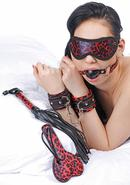 Frisky Red Leopard Bondage Set 6 Piece