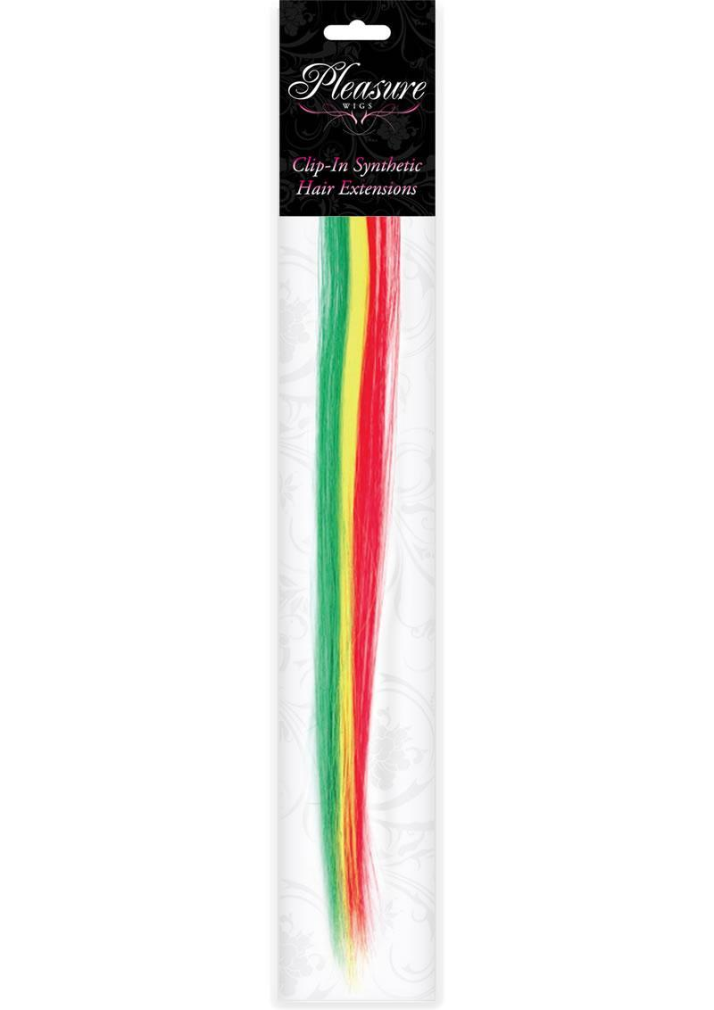 Hair Clip In- Rasta Stripes (disc)