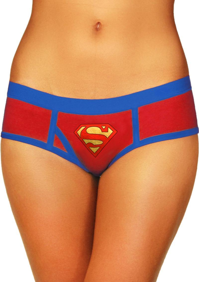 Superman Boyshort W/foil Logo-xl