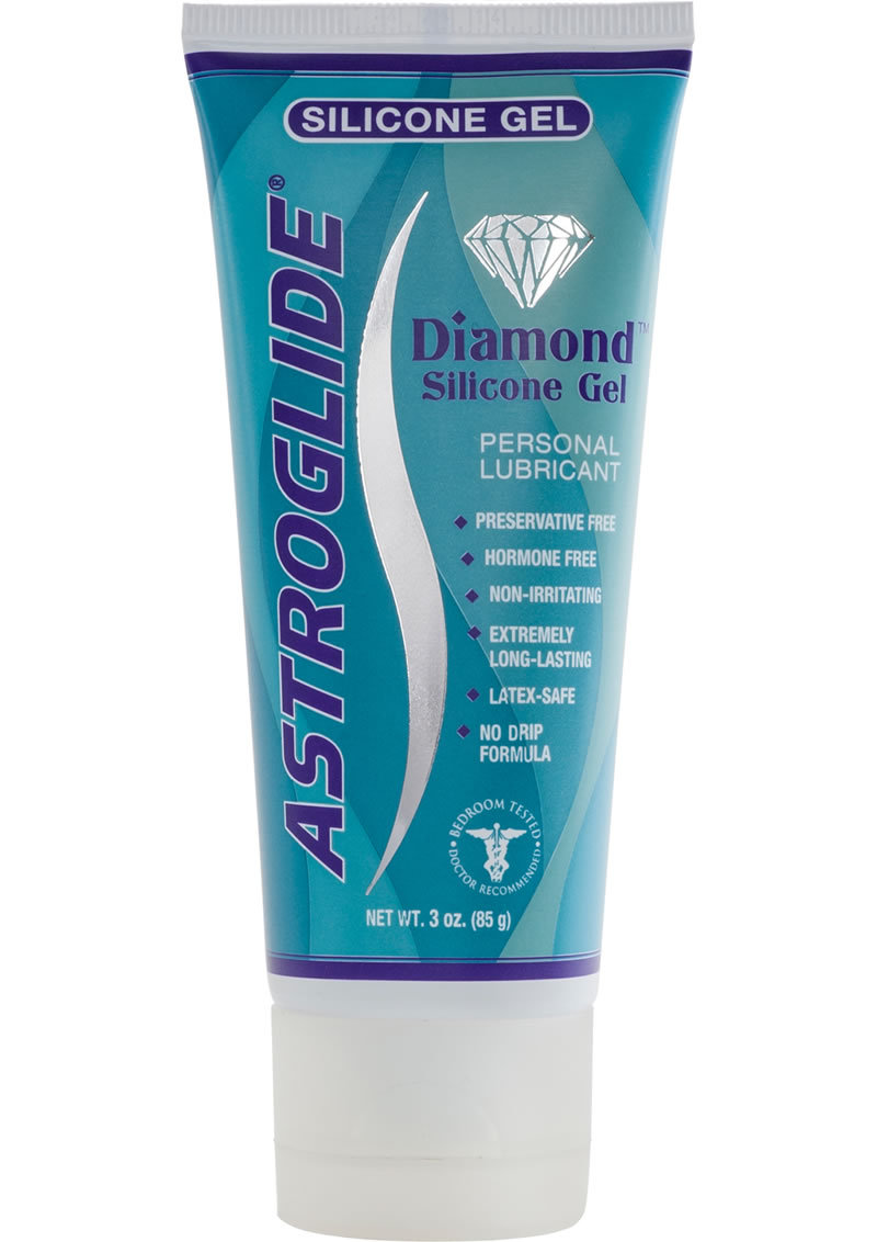Astroglide Diamond Silicone Gel Personal Lubricant 3 Ounce Tube