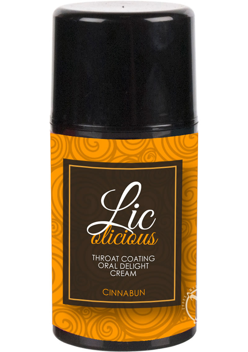 Sensuva Licolicious Throat Coating Oral Delight Cream Cinnabun Flavored Lubricant 1.7oz