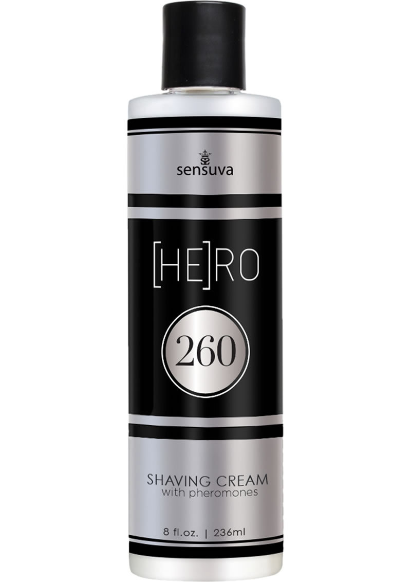 Hero 260 Shaving Cream With Pheromones For Men 8 Ounce