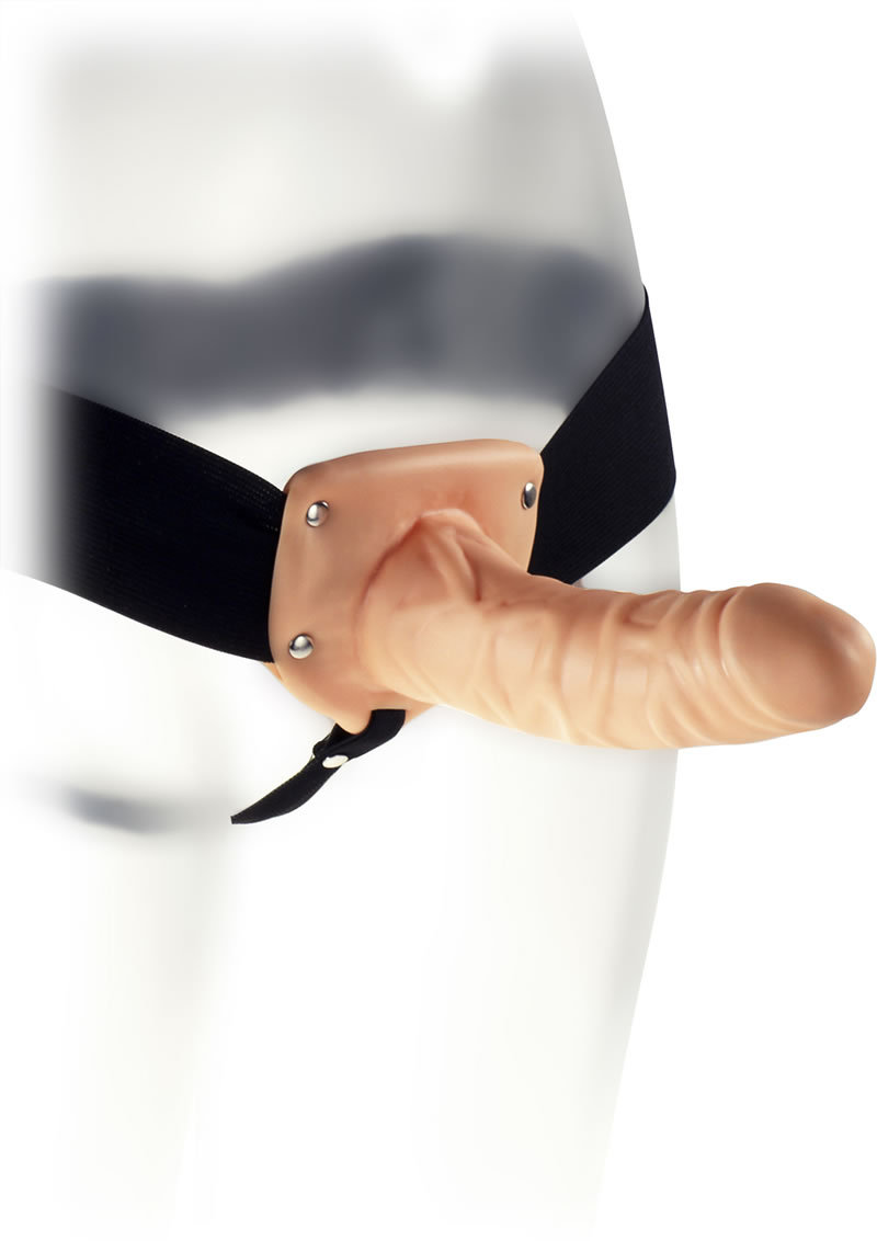 Kinx Extender Hollow Strap On Flesh 6 Inch