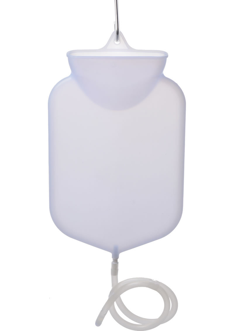 Clean Stream Silicone Open Flow Top Bag White Holds 2.5 Quarts