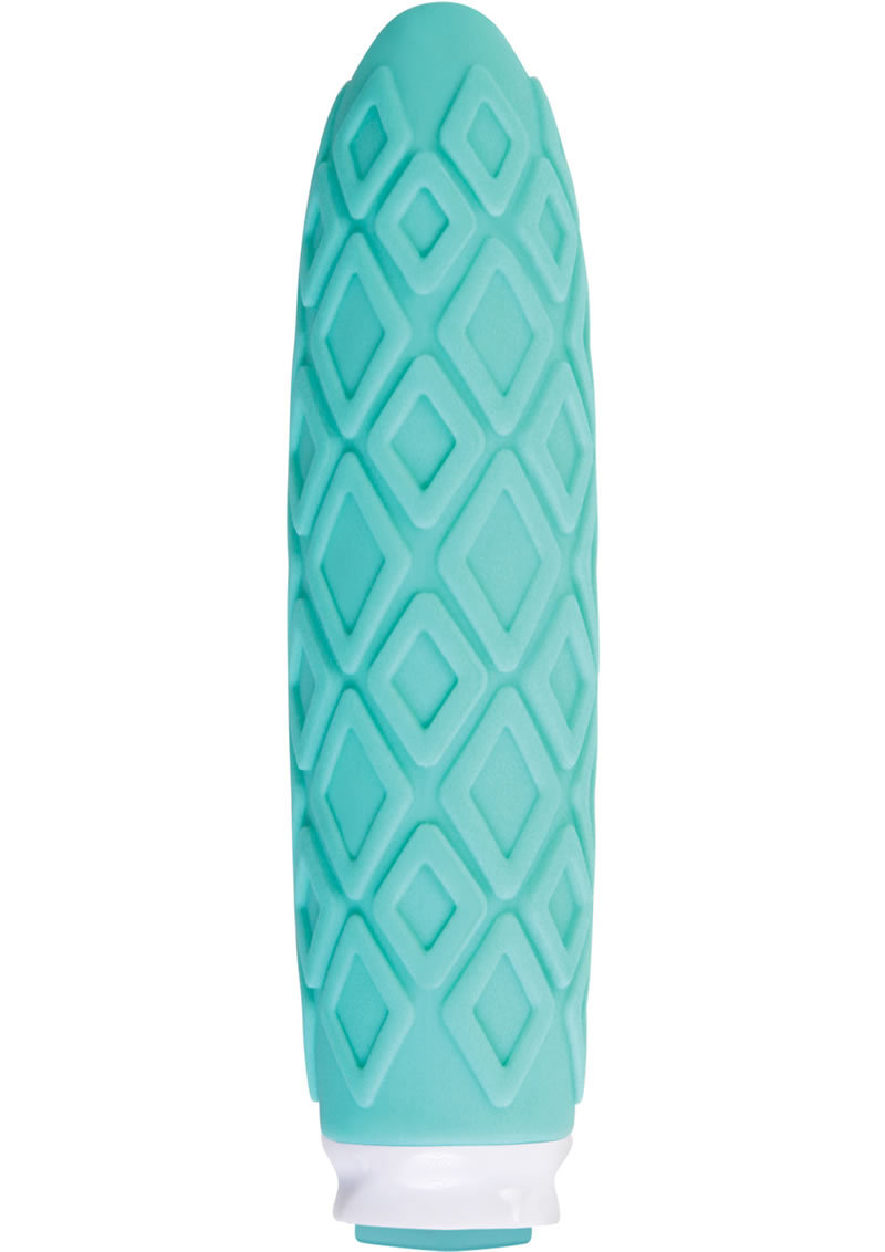 Luxe Collection Princess Compact Silicone Vibe Rechargeable Waterproof Turquoise