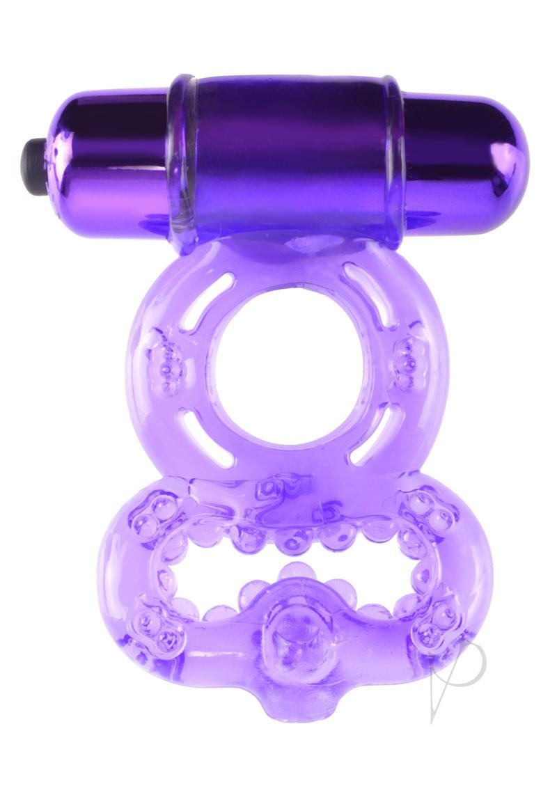 Fantasy C-ringz Vibrating Infinity Super Ring Textured Cockring Waterproof Purple