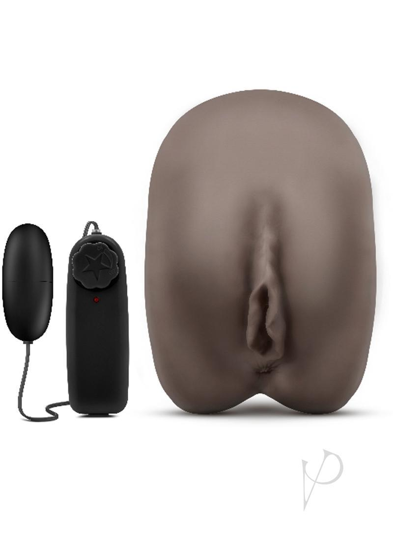 Hot Chocolate Erin The Enchantress Vibrating Realistic Dual Entry Masturbator Chocolate 6.25 Inch
