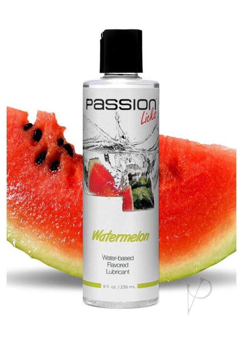 Passion Licks Water-based Flavored Lubricant Watermelon 8 Ounce