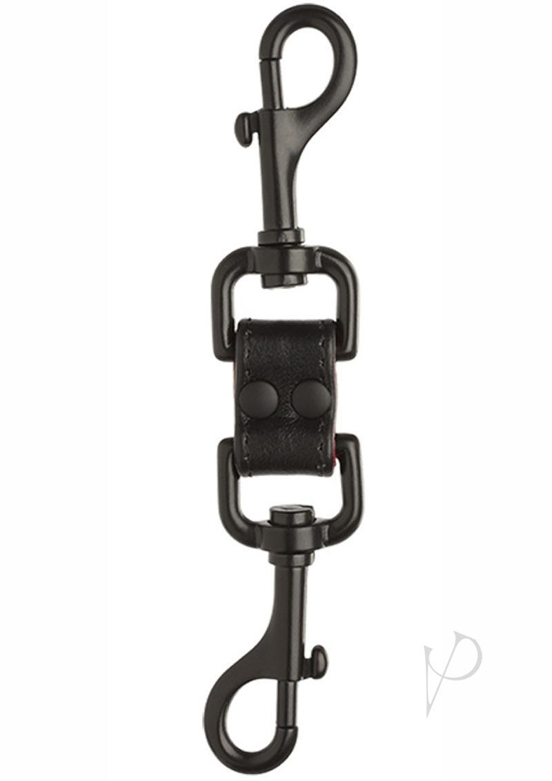 Kink Leather Two-way Access Clips Bondage Accessary Black