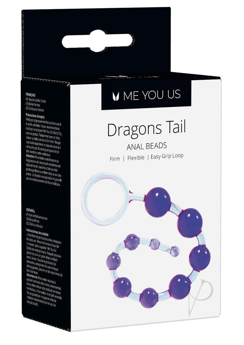 Kinx Dragons Tail Anal Beads Waterproof Purple 10.75 Inches