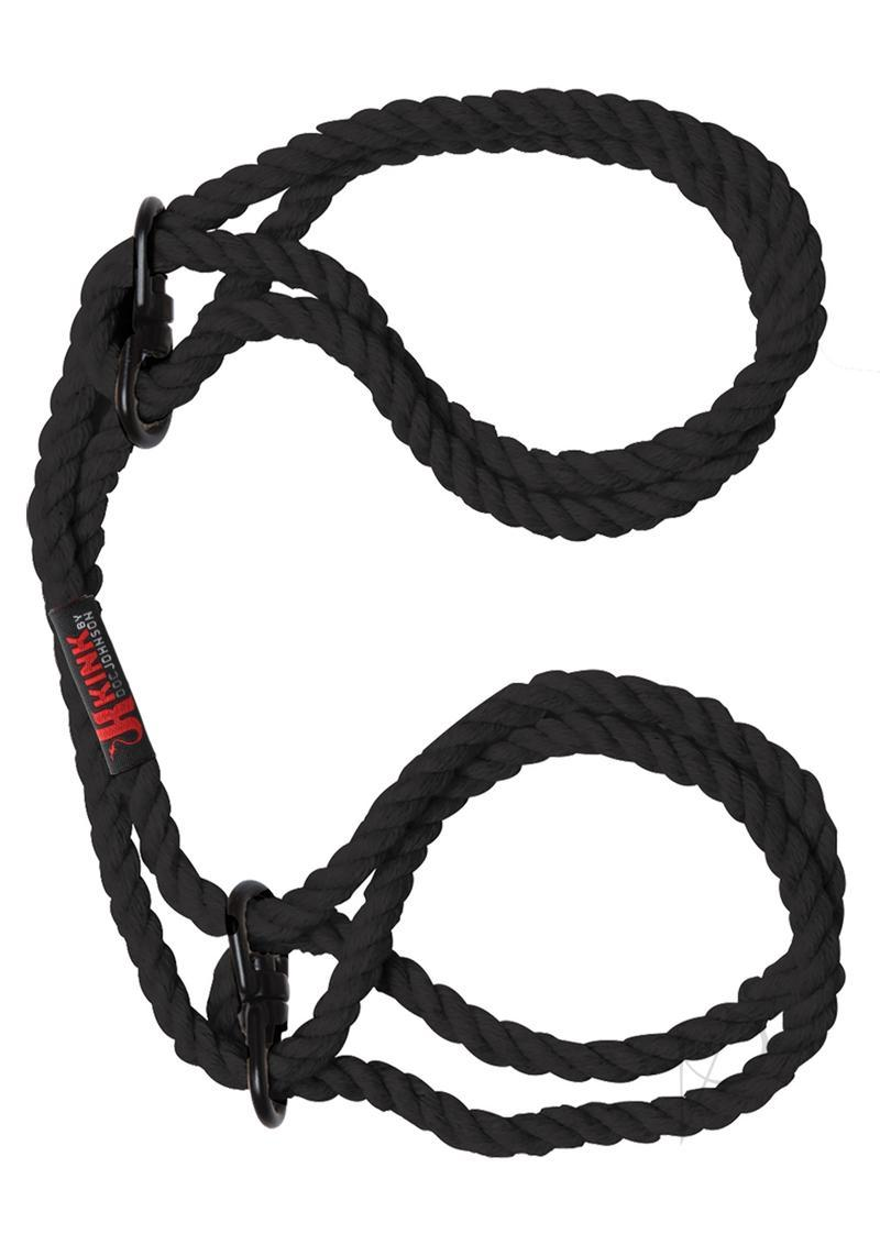 Kink Hogtied Hemp Cuffs Black